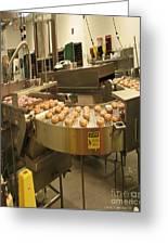 The Donut War Machine Greeting Card by Carol F Austin