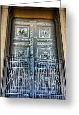 The Door At The Parthenon In Nashville Tennessee Greeting Card