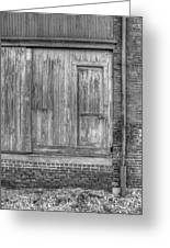 The Door Bw Greeting Card