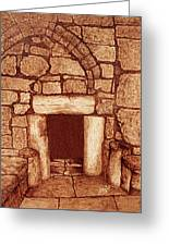 The Door Of Humility At The Church Of The Nativity Bethlehem Greeting Card