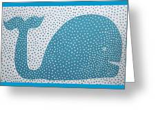 The Dotted Whale Greeting Card by Deborah Boyd