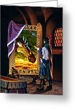 The Dragon Mirror Greeting Card