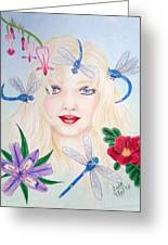 The Dragonfly Girl Greeting Card