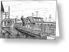 The Drawbridge As Seen From Pjs Greeting Card