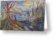 The Dreaming Tree Greeting Card by Made by Marley