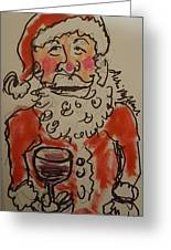 The Drunken Santa Greeting Card
