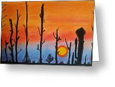The Dryest Sunset Greeting Card