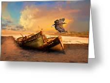 The Eagle And The Boat Greeting Card