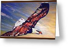 The Eagle Or The Great Thunderbird Spirit In The Sky Greeting Card