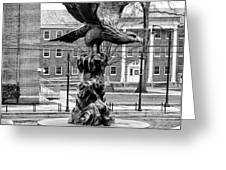 The Eagle - Widener University In Black And White Greeting Card