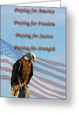 The Eagles Prayer Greeting Card