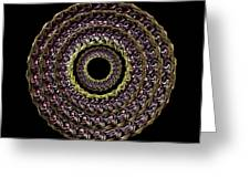 The Earthtone Infinity Of Rose Greeting Card by Jacqueline Migell