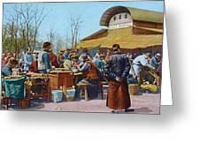 The East Market, Peking, Ca 1921 Greeting Card