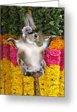 The Easter Bunny Didn't Die For Your Sins Greeting Card