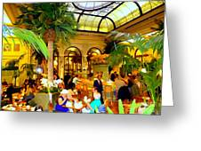 The Easter Holiday Tea At The Palm Court Greeting Card