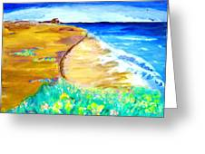 The Edge Of The Sea Greeting Card