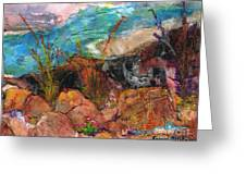 The Edge Of The Cliff Greeting Card