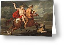 The Education Of Achilles Greeting Card