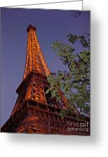 The Eiffel Tower Aglow Greeting Card