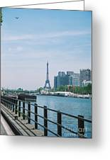 The Eiffel Tower And The Seine River Greeting Card