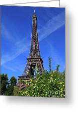 The Eiffel Tower In Spring Greeting Card