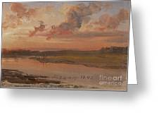 The Elbe In Evening Light Greeting Card