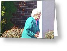 The Elderly Woman Greeting Card