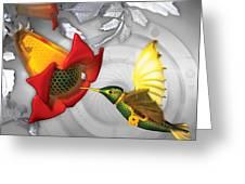 The Electric Hummingbird Greeting Card