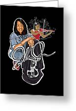 The Electric Violinist Greeting Card