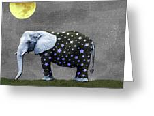 The Elephant And The Moon Greeting Card