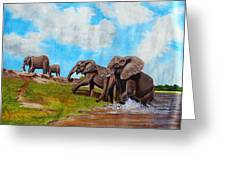 The Elephants Rise Greeting Card