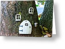 The Elf House Greeting Card by Paul Ward