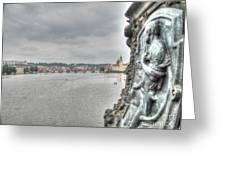 the embankment Praha Greeting Card
