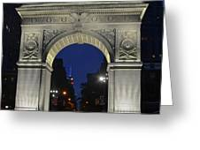 The Empire State Building Through The Washington Square Arch Greeting Card