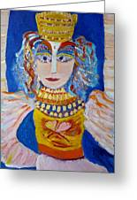 The Empressa  Of Hearts Angel Of Grace Beauty And Devotion Greeting Card