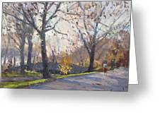 The End Of Fall At Three Sisters Islands Greeting Card