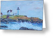 The End Of Summer- Cape Neddick Maine Greeting Card