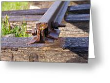 The End Of The Line Greeting Card