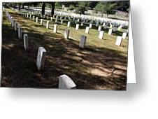 Arlington Tombstones Shade And Light Greeting Card