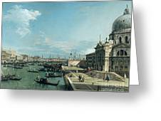 The Entrance To The Grand Canal And The Church Of Santa Maria Della Salute Greeting Card