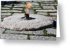 The Eternal Flame At President John F. Kennedy's Grave Greeting Card