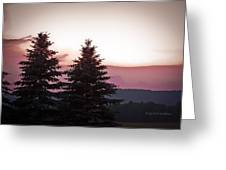 The Evening Before Greeting Card