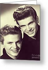 The Everly Brothers Greeting Card