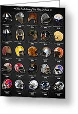The Evolution Of The Nfl Helmet Greeting Card