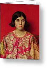 The Exile - Heavy Is The Price I Paid For Love Greeting Card by Thomas Cooper Gotch