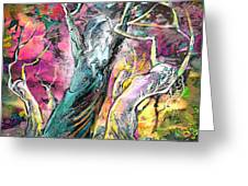 The Expulsion From Paradise Greeting Card