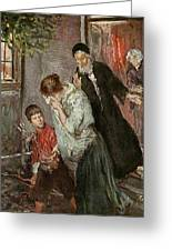 The Expulsion Of Hagar Greeting Card