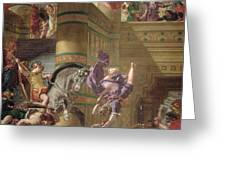 The Expulsion Of Heliodorus Greeting Card