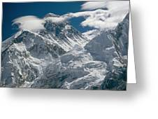 The Extreme Terrain Of Mount Everest Greeting Card