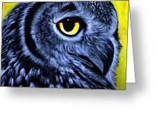 The Eye Of The Owl -the  Goobe Series Greeting Card